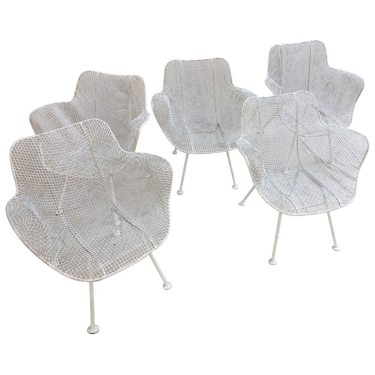 Russel Woodard Set of 5 Armchairs For Sale