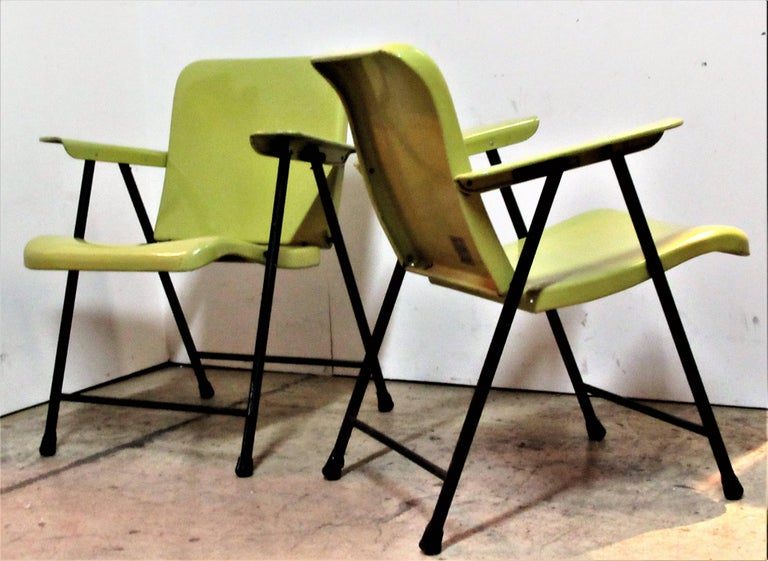 Russel Wright Folding Armchairs For Samsonite For Sale At
