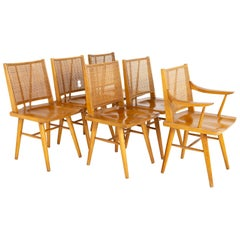Russel Wright for Conant Ball MCM Blonde Midcentury Dining Chairs, Set of 6