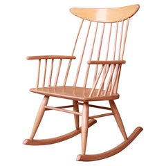 Russel Wright for Conant Ball Solid Birch Rocking Chair, 1950s