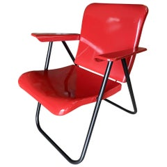 Russel Wright Outdoor/Patio aluminum Folding Chair by Schwayder Bros