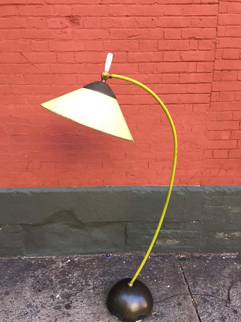 Mid-Century Modern Russel Wright Pivoting Floor Lamp by Fairmont Lamp Company For Sale