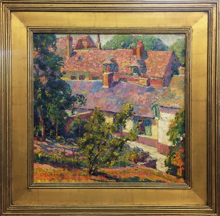 "Russell Patterson, ""My Villa in Normandy"", Oil on Canvas, 1920's - Painting by Russell Patterson"
