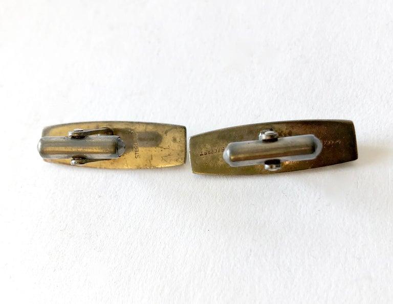 Men's Russell Secrest Sterling Silver American Modernist Cufflinks For Sale