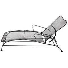 """Russell Woodard Black """"Sculptura"""" Reclining Chaise Lounge Chair, 1950s"""