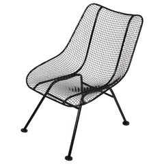 "Russell Woodard Black ""Sculptura"" Single Lanai Chair, 1950s"