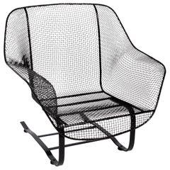 "Russell Woodard Black ""Sculptura"" Spring Lounge Armchair, 1950s"