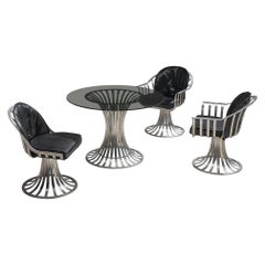 Russell Woodard Dining Set in Glass and Aluminum, 1960s