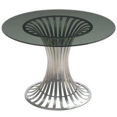 Russell Woodard, Dining Table, Glass and Aluminum, United States, 1960s