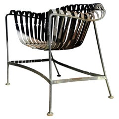 Modernist Iron Strap Lounge Chair by Russell Woodard