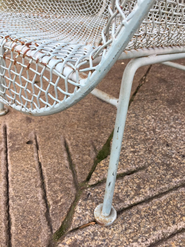 American Russell Woodard Pair of Iron Lounge Chairs For Sale