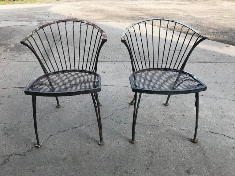 Russell Woodard Rare Set of 4 Klismos Chairs and Table For Sale 3