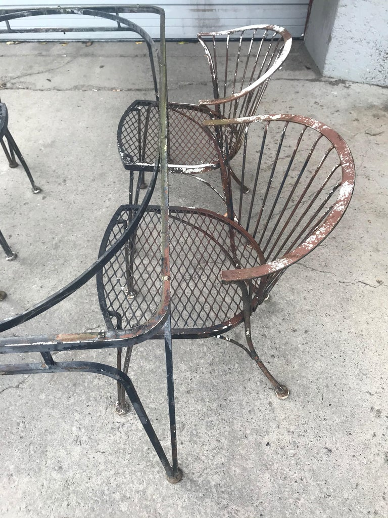 Russell Woodard Rare Set of 4 Klismos Chairs and Table For Sale 1