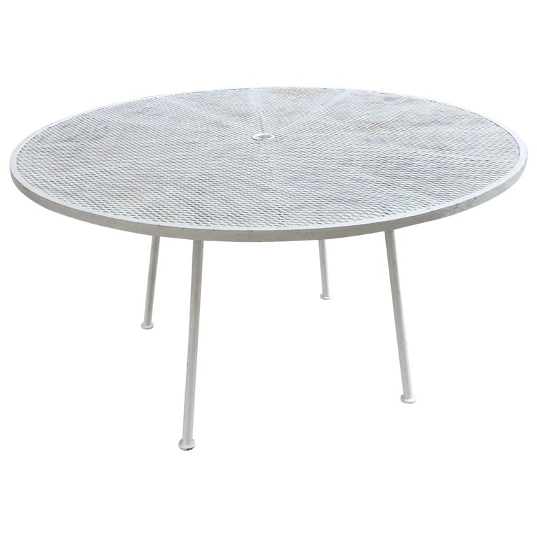 Russell Woodard Round Patio Table For Sale