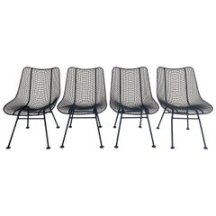 Russell Woodard Sculptura Dining Chairs Freshly Powder Coated, Set of 4