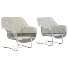 """Russell Woodard """"Sculptura"""" Lounge Chairs, Wrought Iron, Patio"""