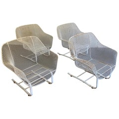 Russell Woodard Sculptura Outdoor Patio Cantilever Lounge Chairs