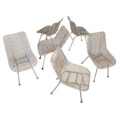 Russell Woodard Sculptura Outdoor Poolside Chairs Set of Six