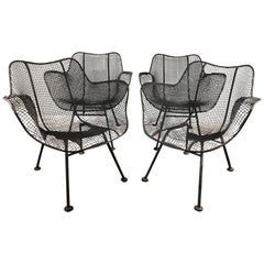 Russell Woodard Sculptura Set of Four Chairs with Arms