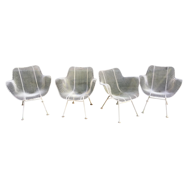 John Woodard Sculptura Wire Mesh Patio Chairs
