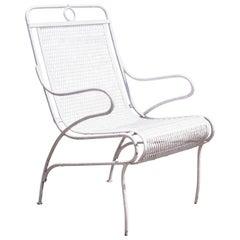 Russell Woodard Sculptura Wrought Iron Sculptural Garden Patio Dining Arm Chair