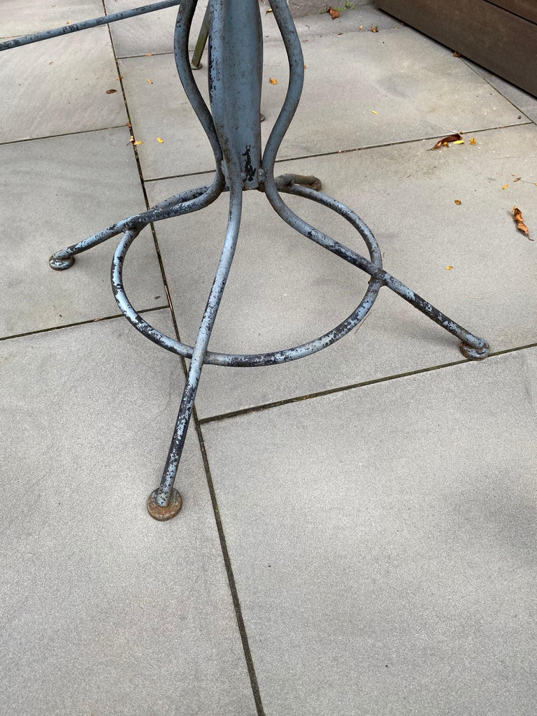 Iron Russell Woodard Table and Bench Set
