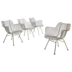 Russell Woodard White 'Sculptura' Patio Chairs