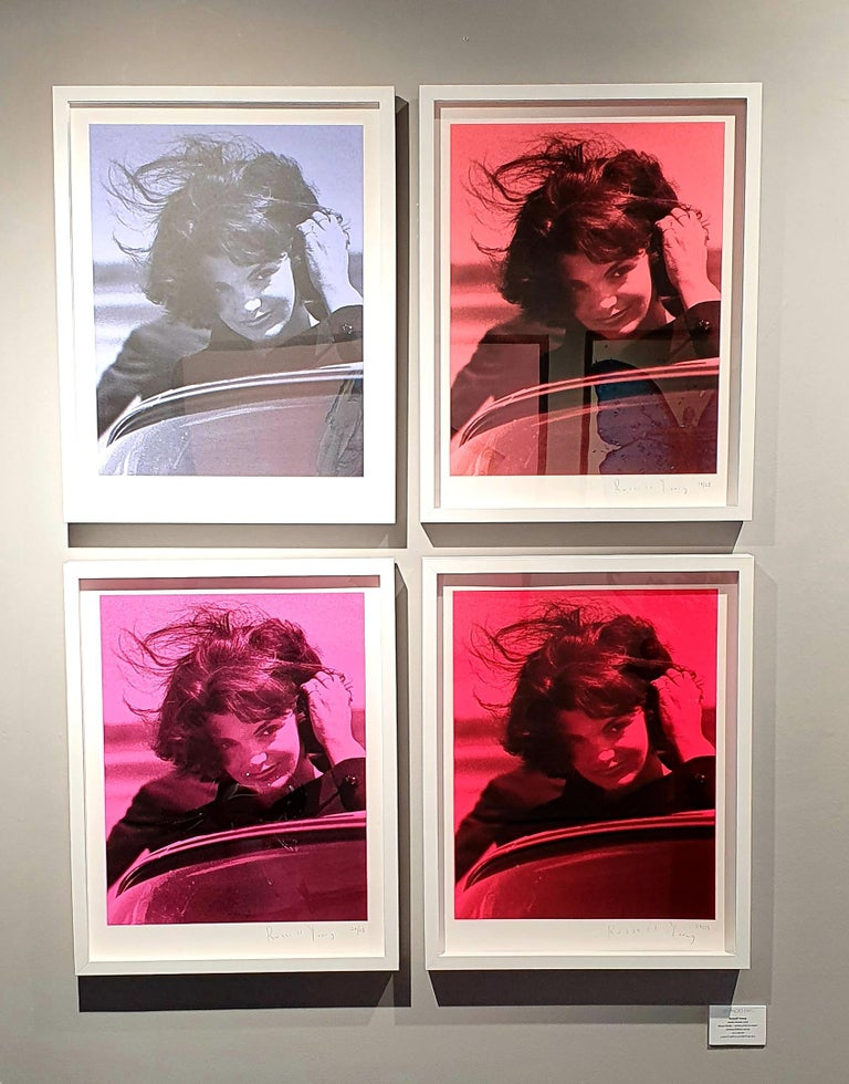 JACQUIE ONASSIS - set of 4  - Mixed Media Art by Russell Young
