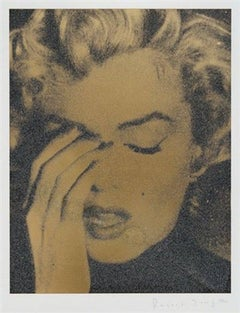 Marilyn Crying, Liquid Gold on Paper