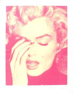 Marilyn Crying, Suicide Pink on Paper