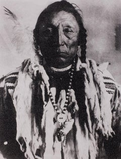 Siksika Chief Curley Bear, Black & White