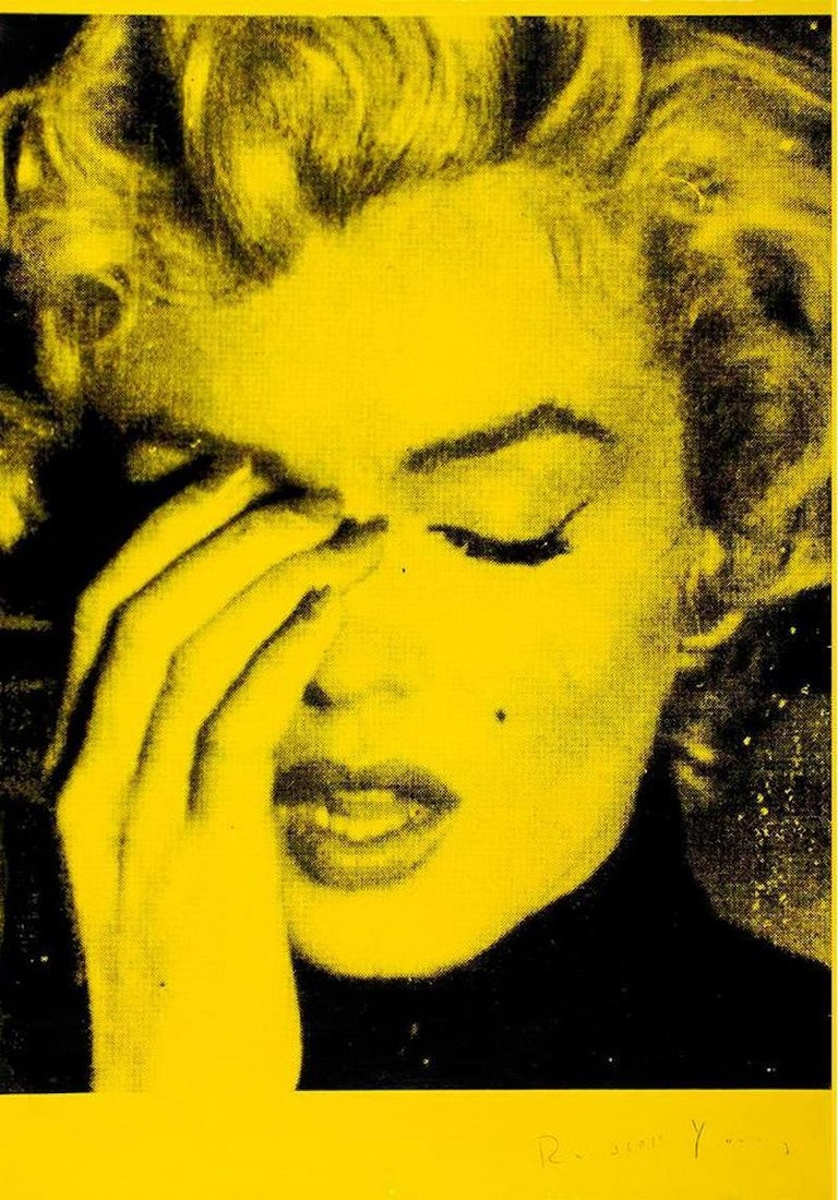 Russell Young Portrait Print - Marilyn Crying (Mulholland Yellow)