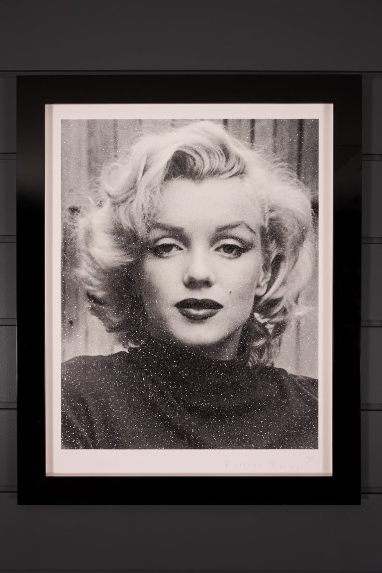 Russell Young, Marilyn with Diamond Dust in Black & White,  2019 - Contemporary Print by Russell Young