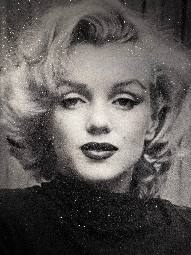 Russell Young, Marilyn with Diamond Dust in Black & White,  2019 For Sale 1