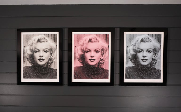 Russell Young, Marilyn with Diamond Dust in Black & White,  2019 For Sale 2