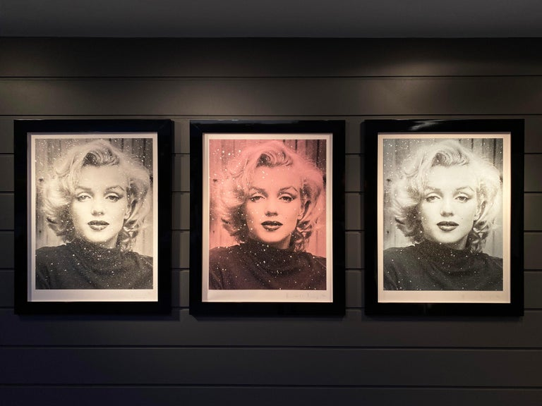 Russell Young, Marilyn with Diamond Dust in Black & White,  2019 For Sale 3