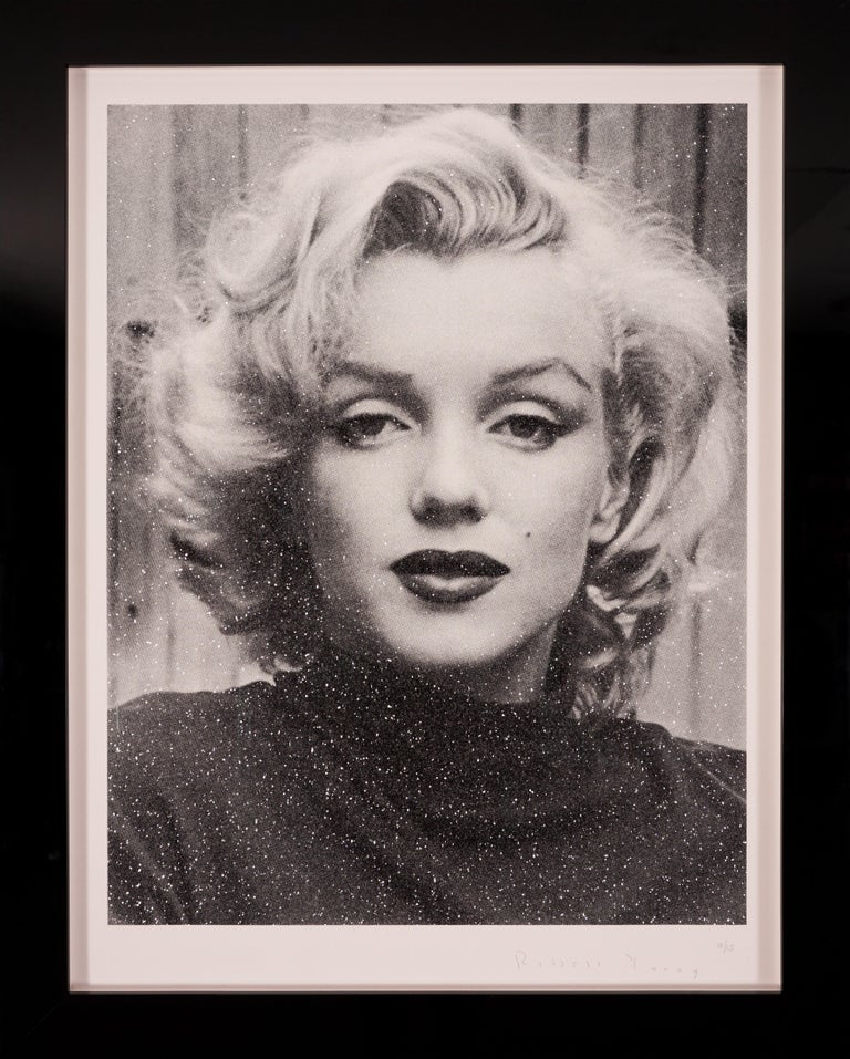 Russell Young, Marilyn with Diamond Dust in Black & White,  2019 - Print by Russell Young