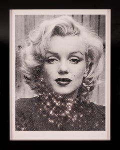 Russell Young, Marilyn with Diamond Dust in Black & White,  2019