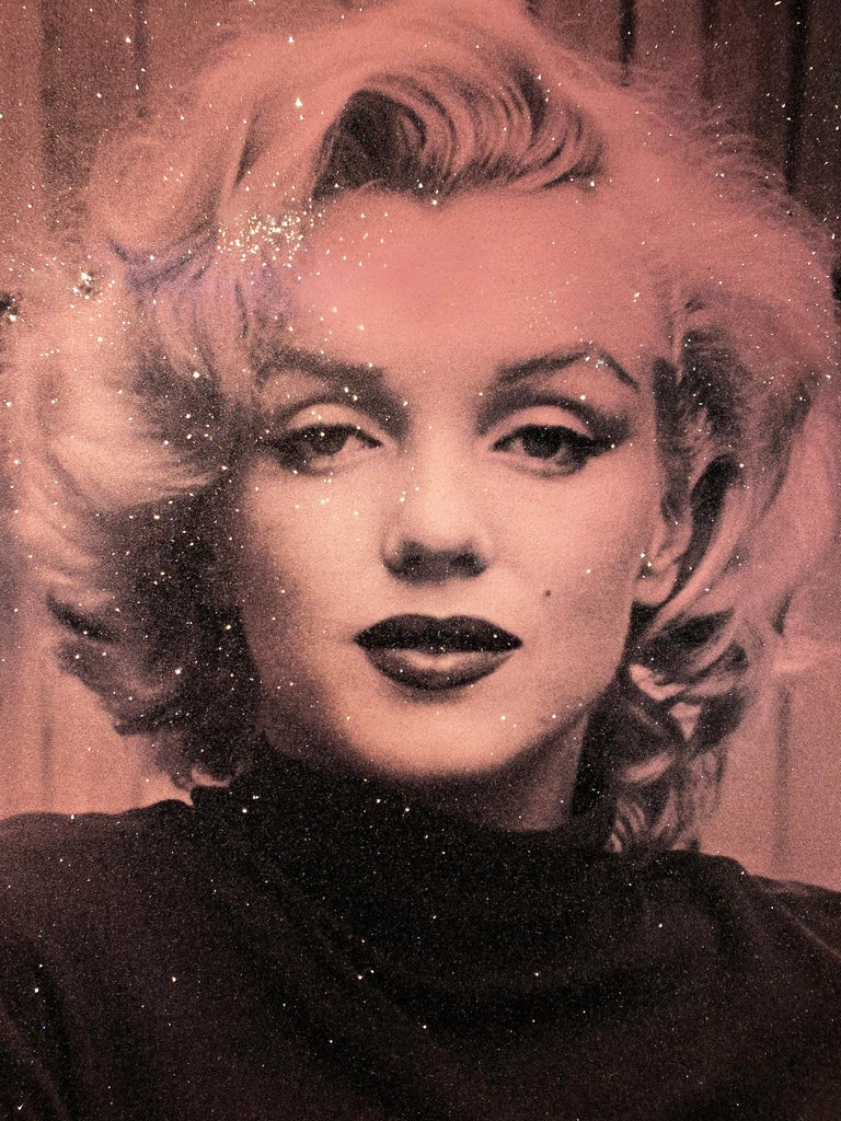 Russell Young, Marilyn with Diamond Dust in Rose Pink, 2019 For Sale 3