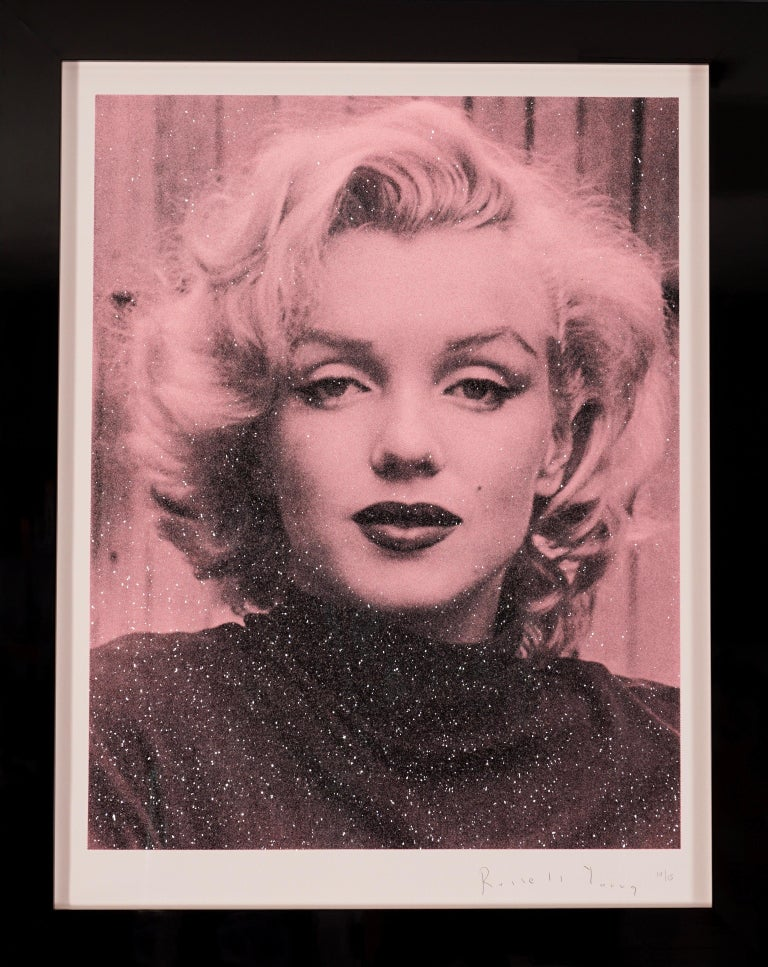 Russell Young, Marilyn with Diamond Dust in Rose Pink, 2019 - Print by Russell Young