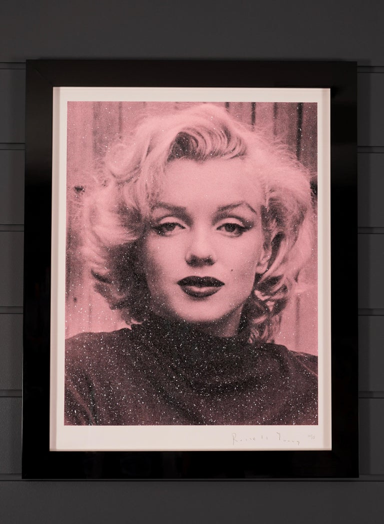 Russell Young, Marilyn with Diamond Dust in Rose Pink, 2019 - Contemporary Print by Russell Young