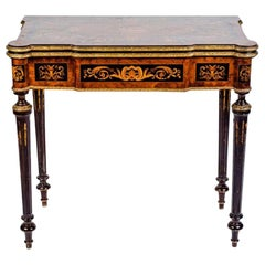 Russian 19th Century Marquetry Game Table, 1820