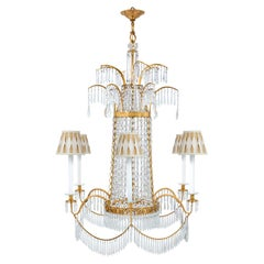 Russian 19th Century Neoclassical Ormolu and Crystal Six-Light Chandelier