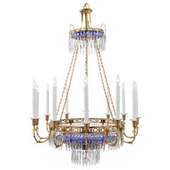 Russian 19th Century Neoclassical Style Twelve-Light Chandelier