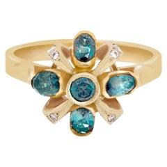 Russian Alexandrite 18 Karat Gold Soviet Era Ring