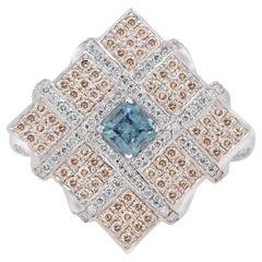 Russian Alexandrite 18k Gold Antique Design Ring with Diamonds