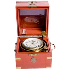Russian boat clock, Two Days Marine Tilting Chronometer, circa 1930