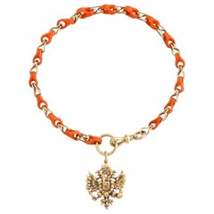 Russian Coral Gold Bracelet, circa 1890
