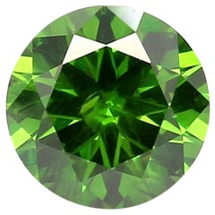 Russian Demantoid Garnet Ring Gem 1.91 Carat Weight