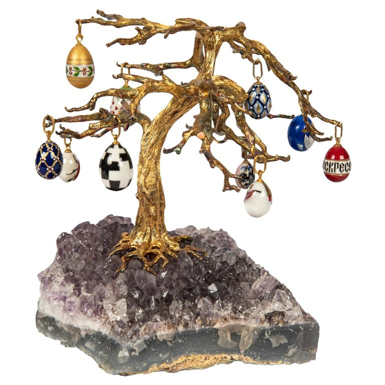 Russian Easter Egg Amethyst Tree For Sale At 1stdibs